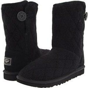 UGG Australia Black Mountain Quilted Short Boots